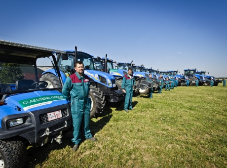 Tractors with employees